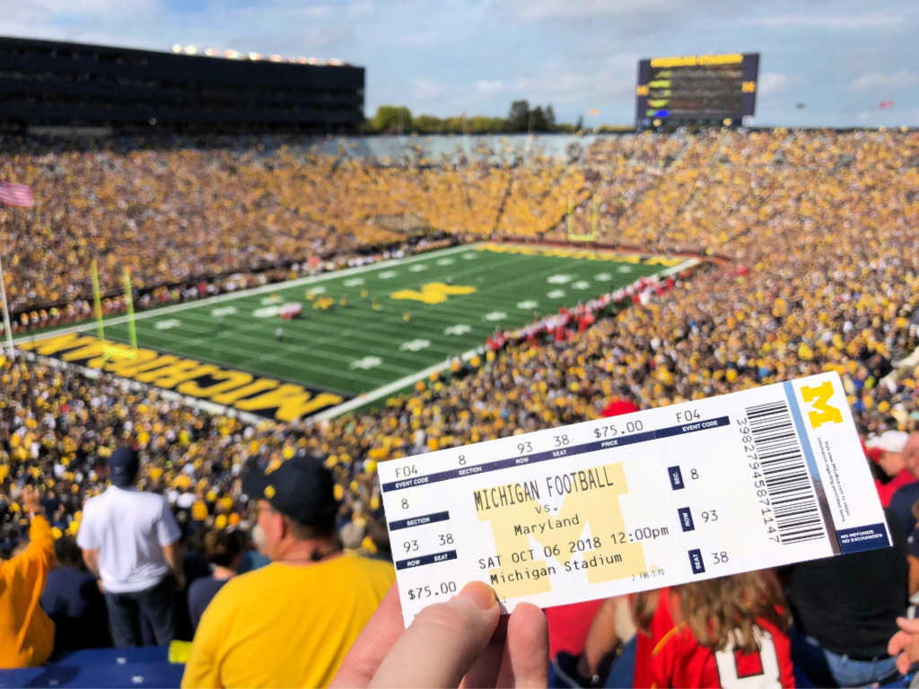 The Michigan Wolverines are the winningest college football team. See them play at Michigan Stadium in Ann Arbor, Michigan, USA! #sponsored #ErinInAnnArbor #AnnArbor