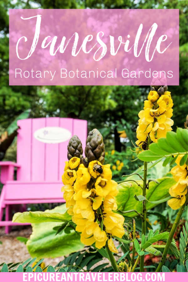 Visit 20 acres of beautifully landscaped gardens featuring 4,000 plant species at Rotary Botanical Gardens in Janesville, Wisconsin, USA! #ExploreJanesvilleWI #JanesvilleFun #Wisconsin #UStravel #MidwestTravel #familytravel #botanicalgarden