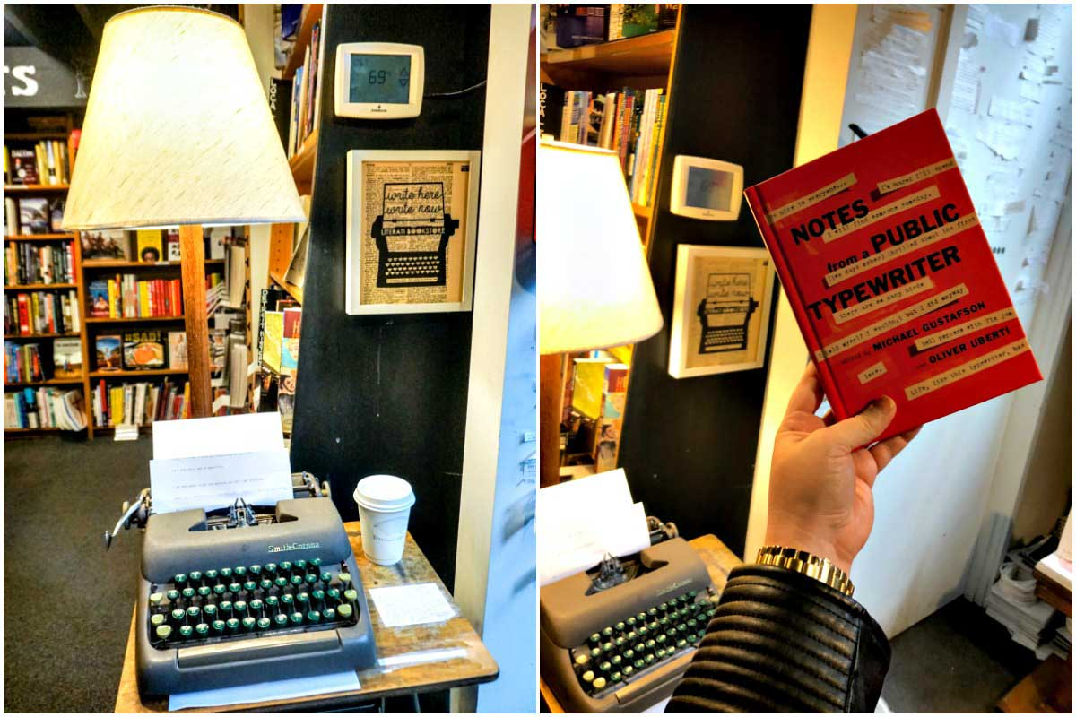 """Notes From A Public Typewriter"" at Literati Bookstore in Ann Arbor, Michigan"