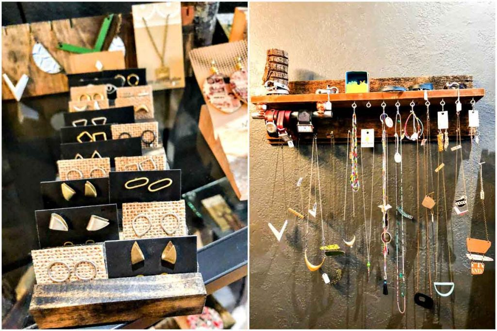 Hand-crafted jewelry for sale at Brick and Mortar in Ypsilanti, Michigan