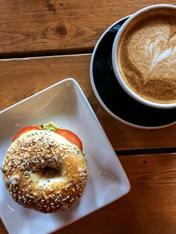 Cultivate Coffee & TapHouse serves hand-crafted specialty coffee drinks and bagel sandwiches in Ypsilanti, Michigan, USA