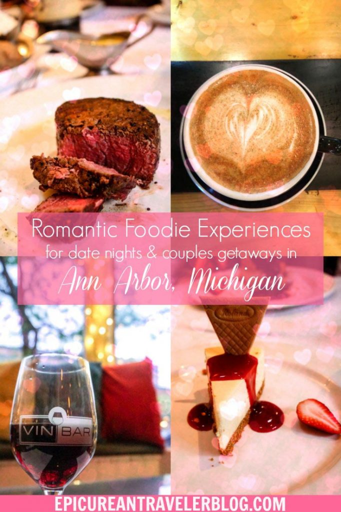 Need ideas for a date night or romantic getaway in Ann Arbor, Michigan? | Romantic things to do in Ann Arbor, Michigan, USA | #sponsored #AnnArbor #ErinInAnnArbor #Michigan #couplestravel #romanticgetaway #datenight #dateideas #valentinesday
