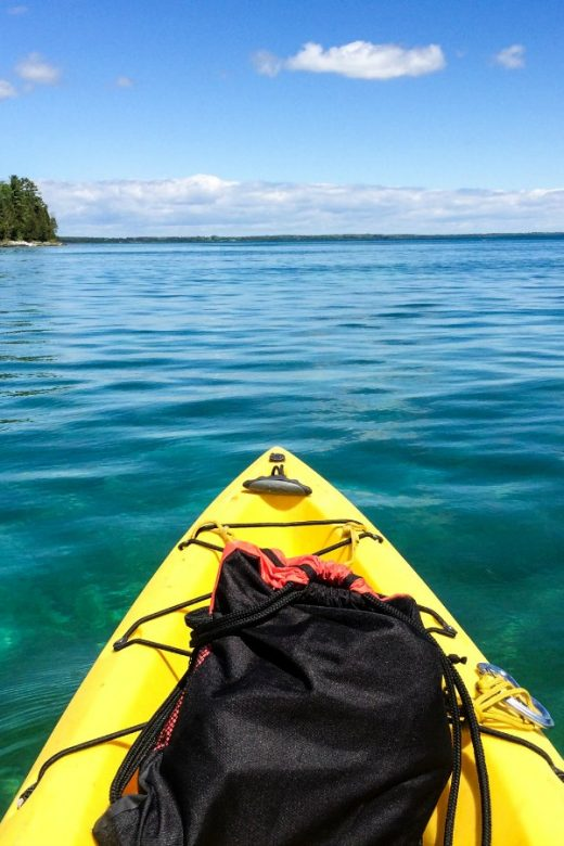Door County Kayak on Lake Michigan via EpicureanTravelerBlog.com