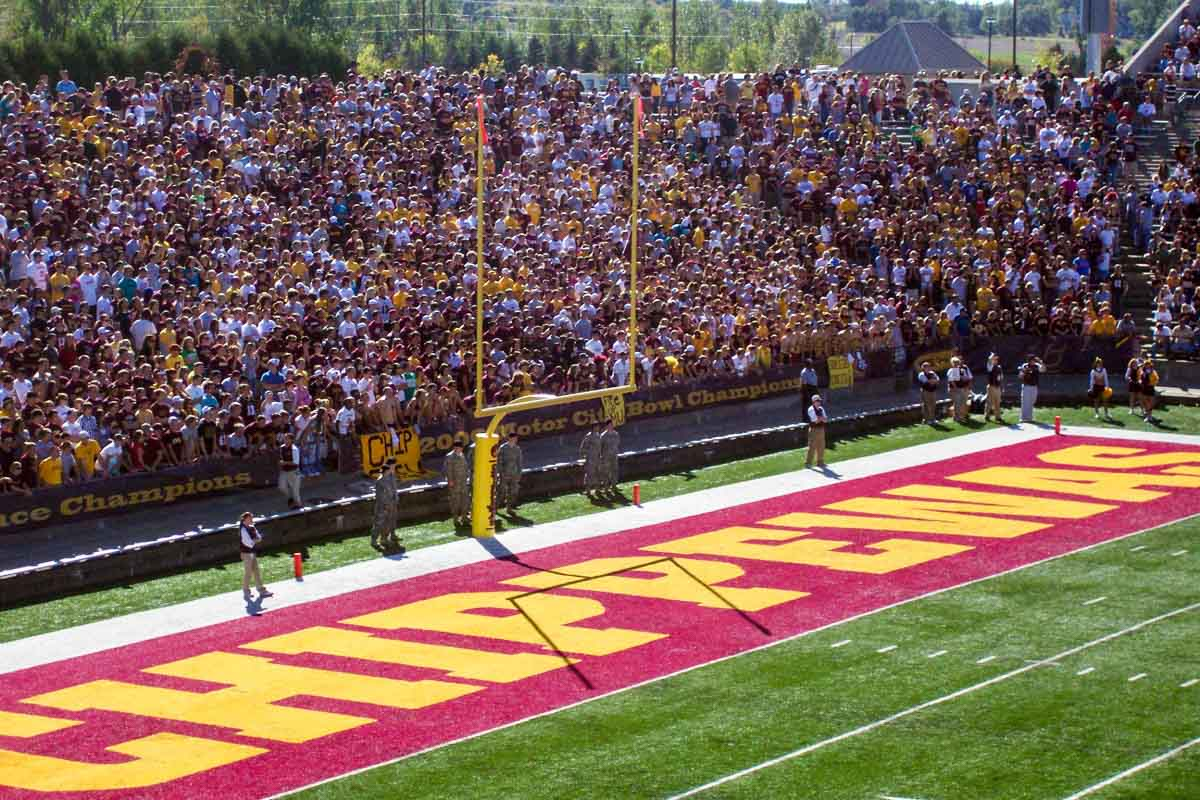Central Michigan University Kelly/Shorts Stadium for Central Michigan Chippewas football game