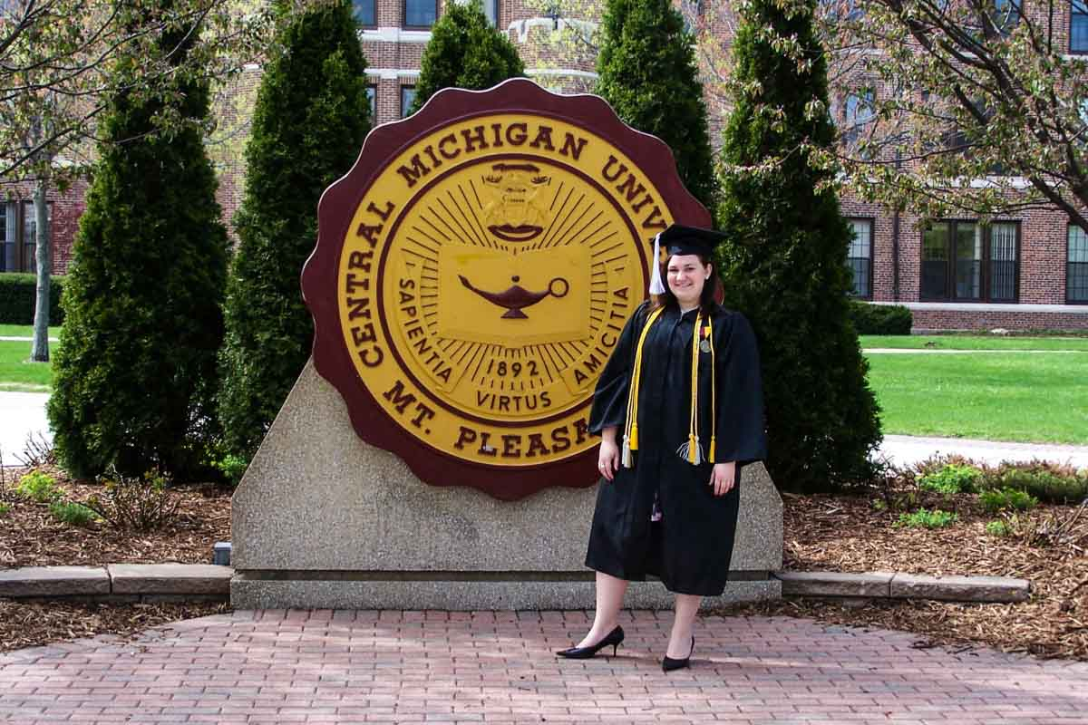 Central Michigan University Seal on Graduation Day 2008