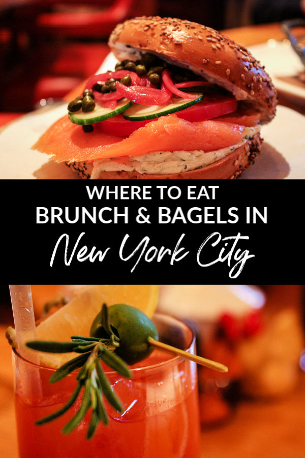 Where to eat brunch and bagels in New York City