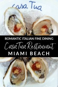 Casa Tua Restaurant offers romantic fine dining with Northern Italian cuisine in Miami Beach, Florida