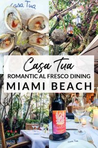 Casa Tua Restaurant: Where to go for romantic al fresco dining in Miami Beach, Florida
