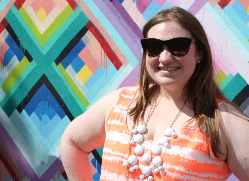 Erin Klema, The Epicurean Traveler, at Wynwood Walls in Miami, Florida