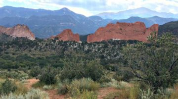 The view of Garden of the Gods with Pikes Peak in the distance. (Erin Klema)