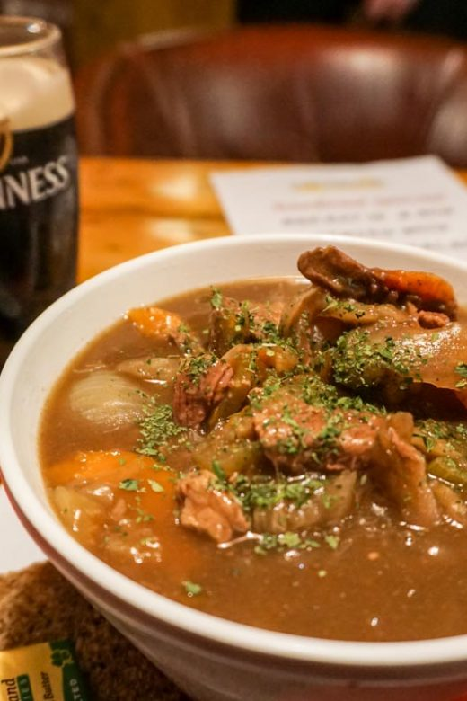 Beef and Guinness Stew in Cork, Ireland