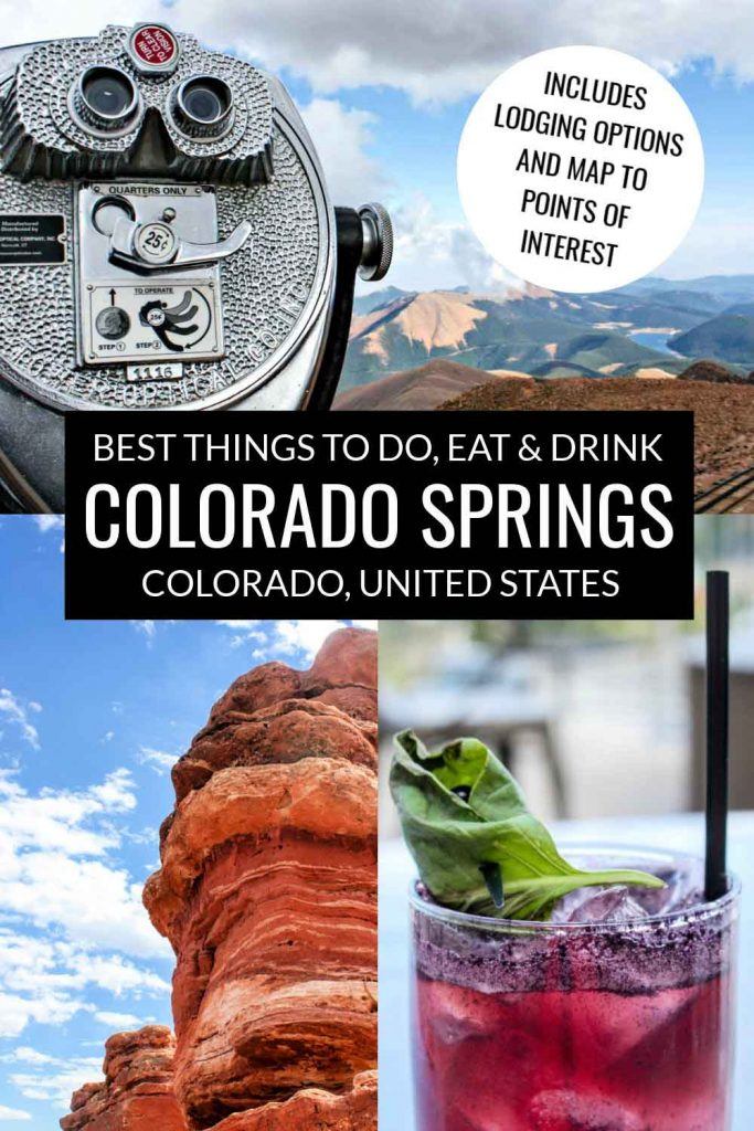 Best things to do in Colorado Springs, Colorado, USA: Pikes Peak summit, craft cocktail at the Principal's Office, and Garden of the Gods