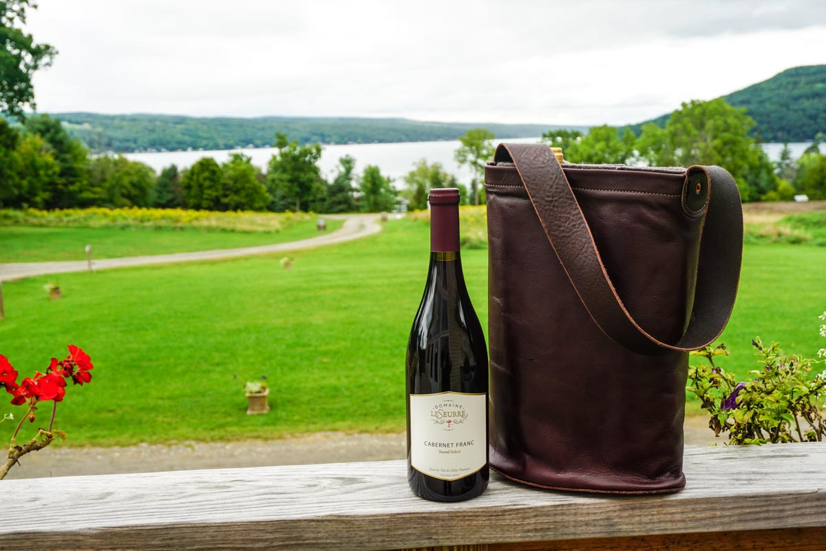Kamen Road Leather Wine Tote