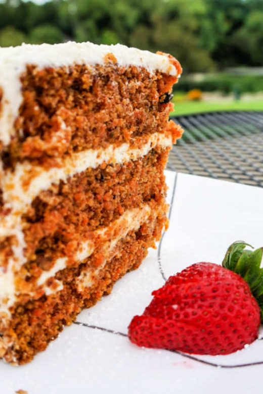 Carrot Cake at Ramona's Table in Rockford, Michigan, USA