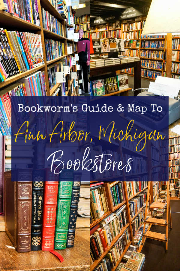 Bookworm's Guide to Ann Arbor, Michigan Bookstores with map