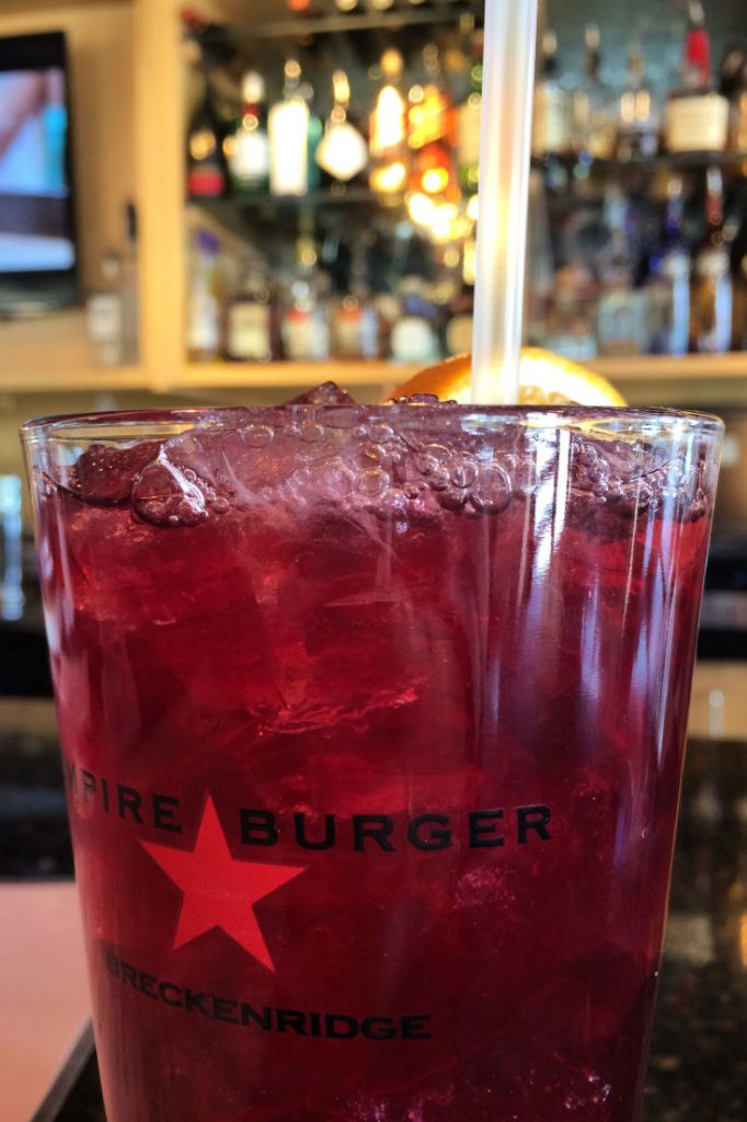 Sangria at Empire Burger in Breckenridge, Colorado, USA