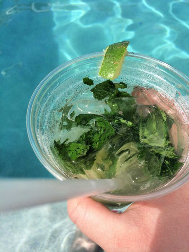 Poolside mojito at Grand Beach Hotel Surfside