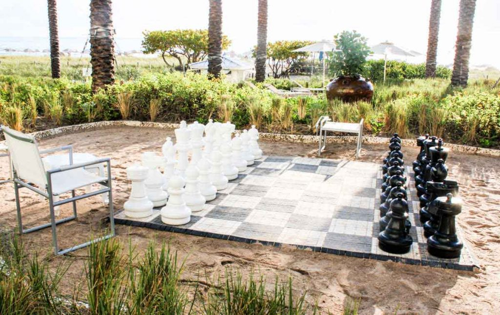 Outdoor Giant Chess Board at Grand Beach Hotel Surfside