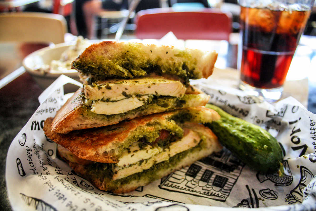 Benno's Birdie sandwich at Zingerman's Deli, Ann Arbor, Michigan