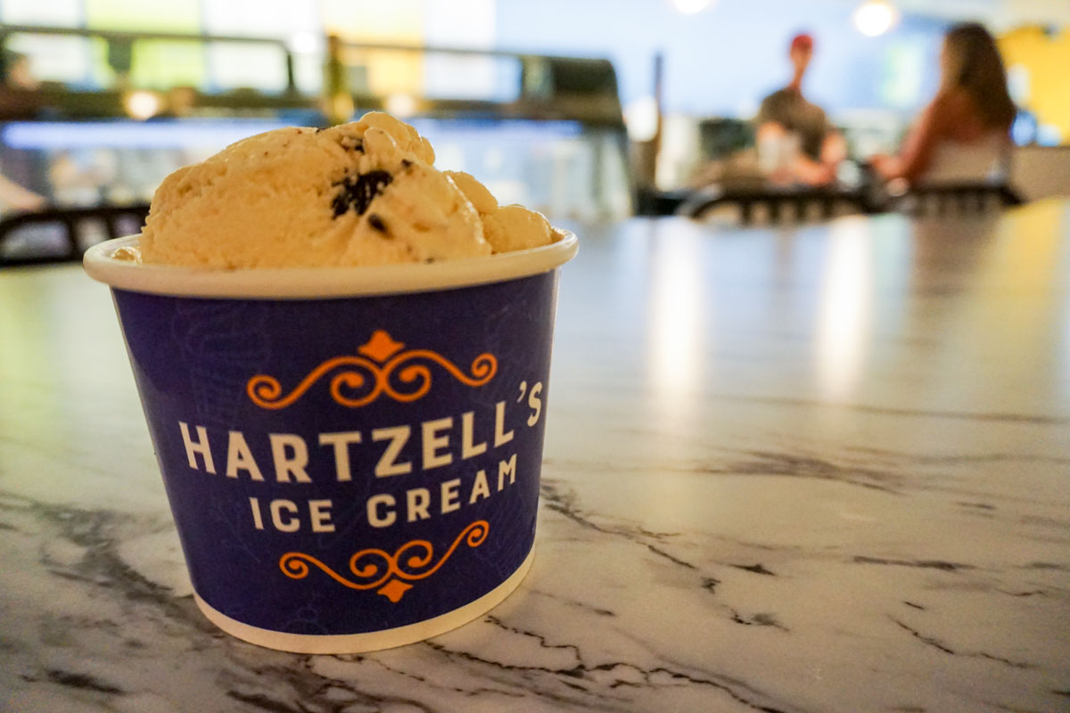 Hartzell's Ice Cream in Bloomington, Indiana