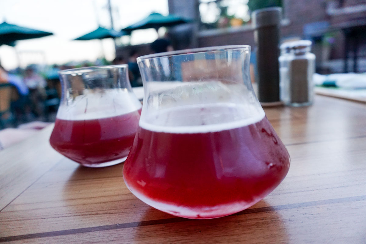 Upland Brewing Co blackberry and raspberry sours