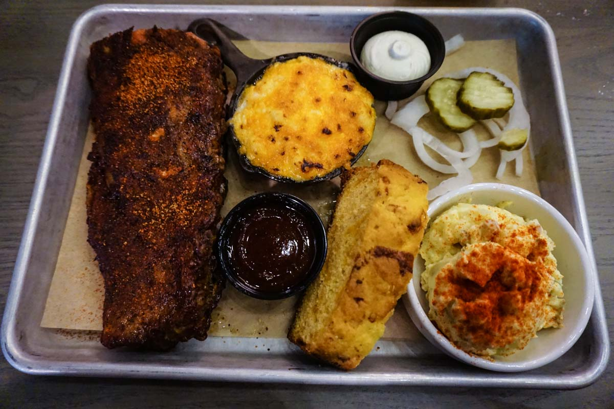 BBQ Tray at SmokeWorks in Bloomington, IN