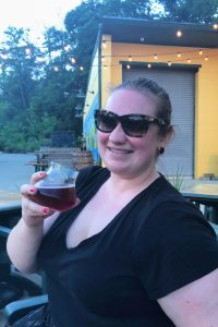 Drink the Blackberry sour ale on Upland Brewpub's patio in Bloomington, Indiana