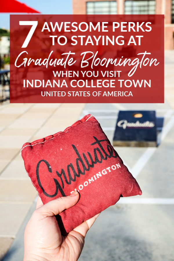 When visiting Indiana University or downtown Bloomington, the boutique Graduate Bloomington hotel offers travelers seven awesome perks!