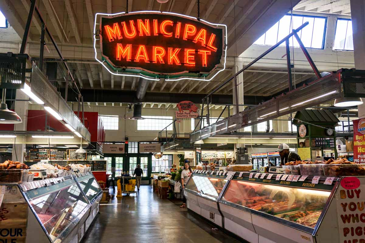 The Municipal Market, otherwise known as the Sweet Auburn Curb Market, in Atlanta, Georgia, USA