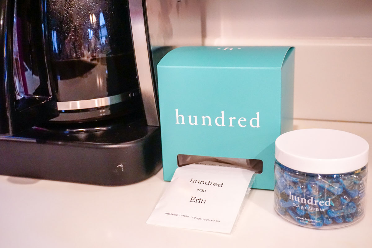 hundred's personalized vitamins and supplements are individually packaged in sachets you can detach for easily taking them on the go or during your usual morning routine at home or the office. #sponsored #hundred
