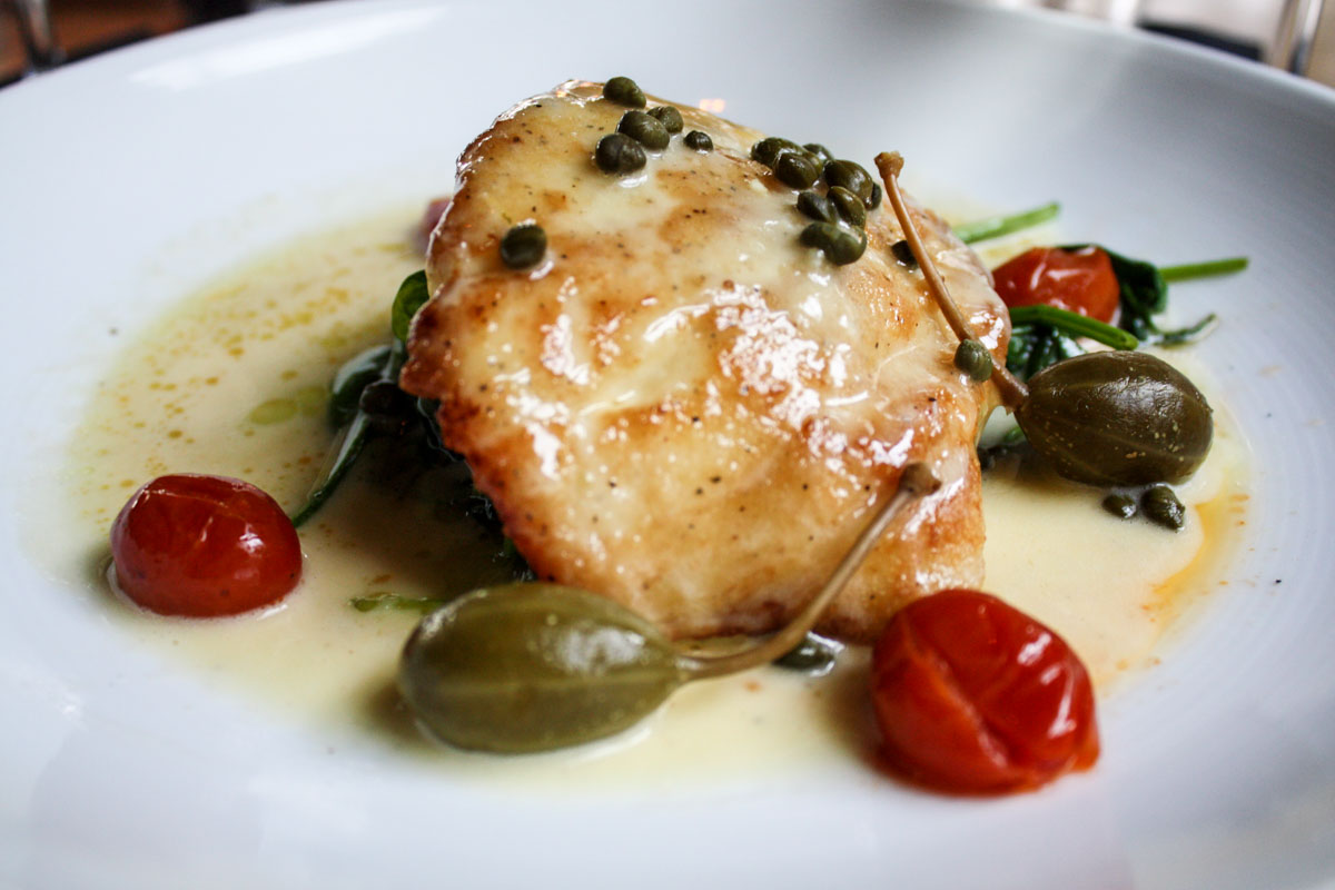 Grouper piccata at Boatyard in Fort Lauderdale, Florida