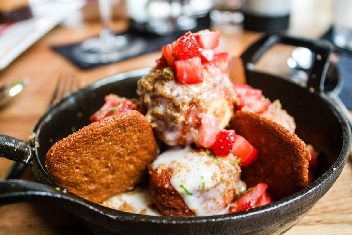 Key Lime Donut Skillet at Boatyard in Fort Lauderdale