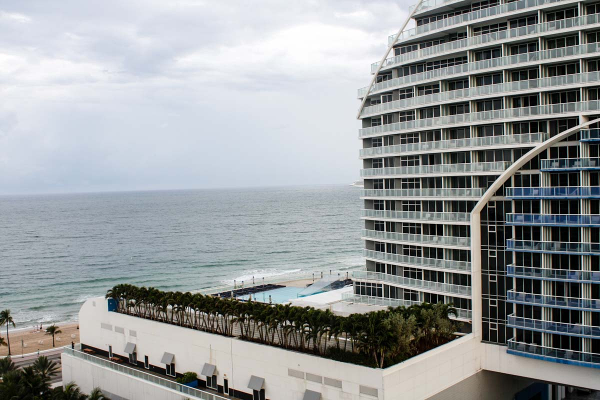 View of the W Hotel and the Atlantic Ocean from Hilton Fort Lauderdale Beach Resort