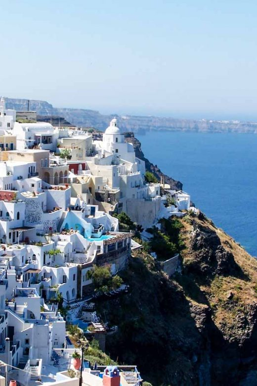 Cliffside view of Fira, Santorini