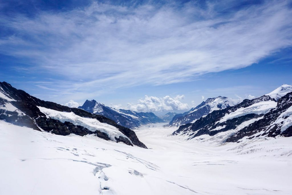 Swiss Alps mountain view from Jungfraujoch, the Top of Europe