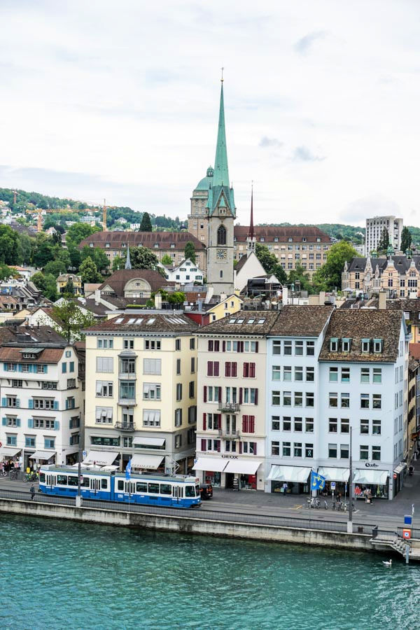 View of Old Town Zurich and Limmat River