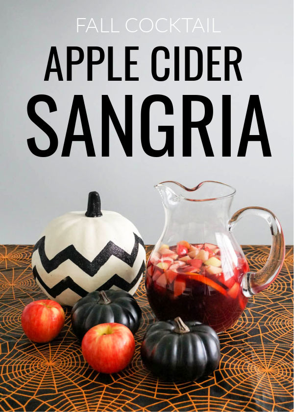 Fall Cocktail: Apple Cider Sangria