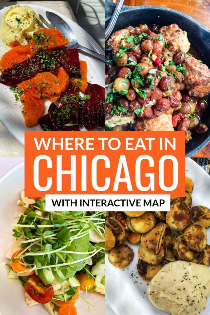 Where to Eat in Chicago with Interactive Map pin